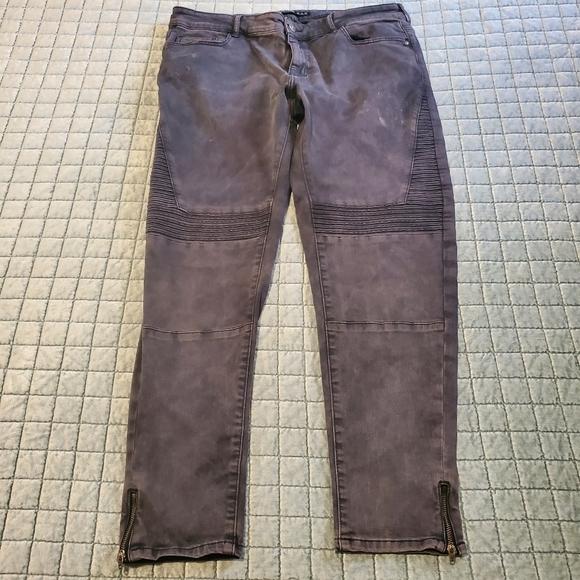 Zara jeans with zipper in the leg